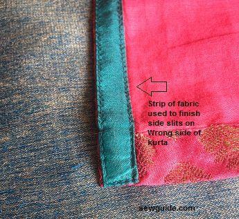 hendidura lateral de túnicas