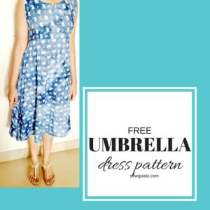patrón de vestido de paraguas