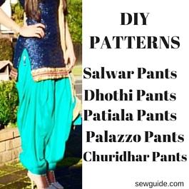 como coser pantalones salwar
