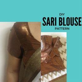 cómo coser una blusa sari