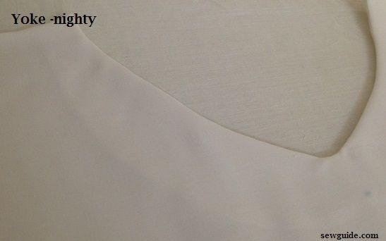 como coser un camisón