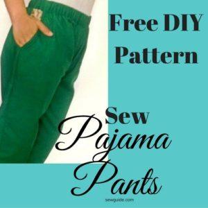 patrón de pantalones de pijama