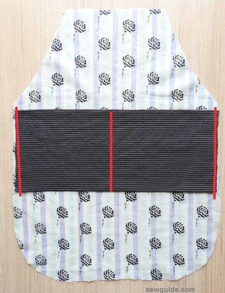 como coser un delantal