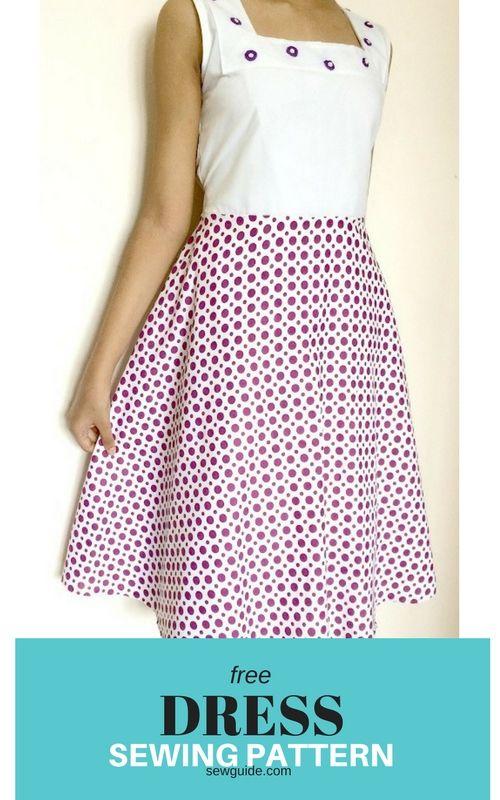 patrón de costura de vestido libre