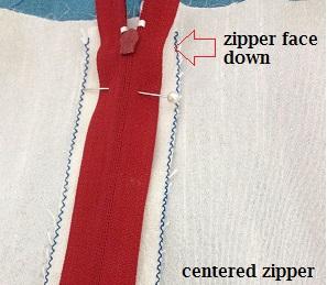 cómo coser una cremallera en un vestido