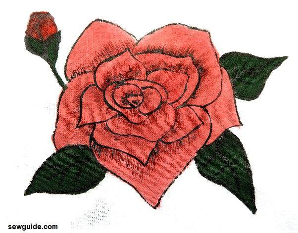 como pintar una rosa paso a paso