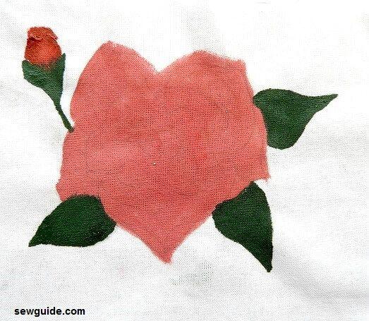 como pintar una rosa simple