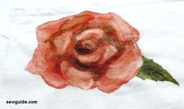 como pintar una rosa en tela para principiantes