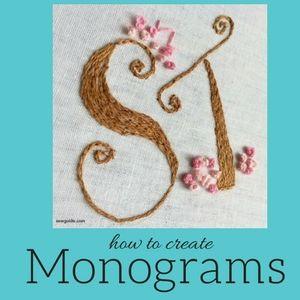 como hacer tus propios monogramas
