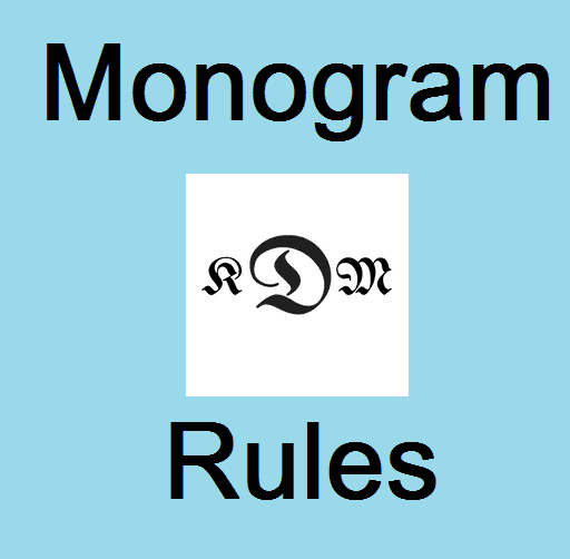 reglas de monograma