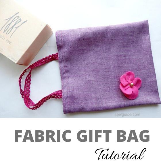 bolsas de regalo de tela diy