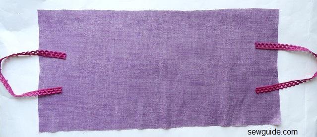 hacer bolsas de regalo de tela