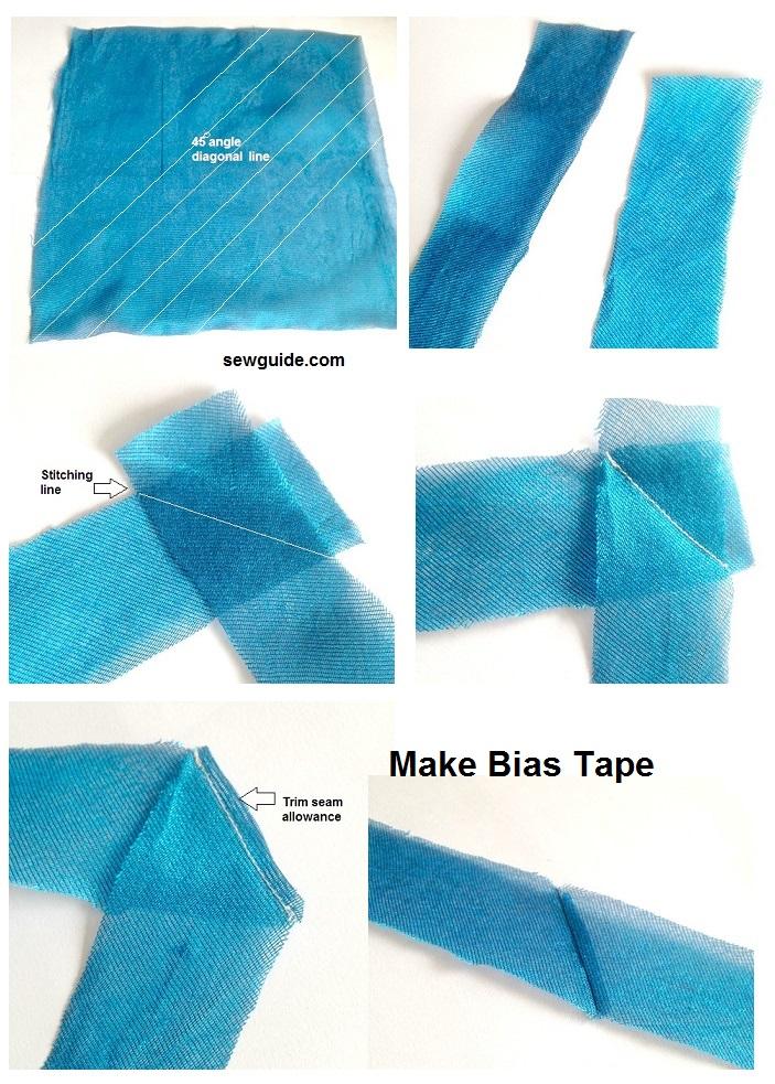 como hacer cinta de sesgo