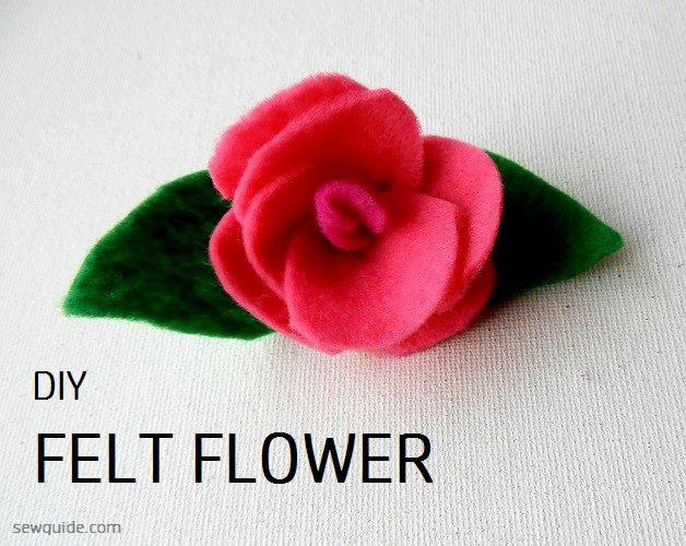 como hacer una flor de fieltro
