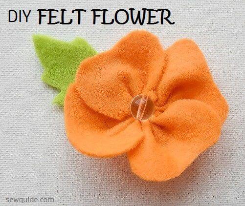 hacer una flor de fieltro simple