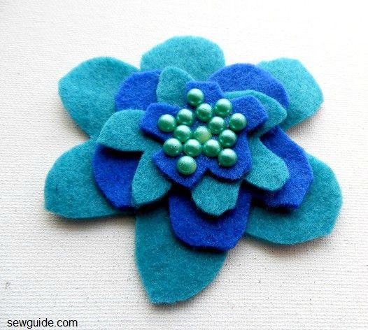 Flor de fieltro de bricolaje