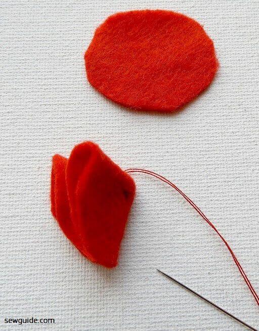 Tutorial de bricolaje para hacer flores de fieltro
