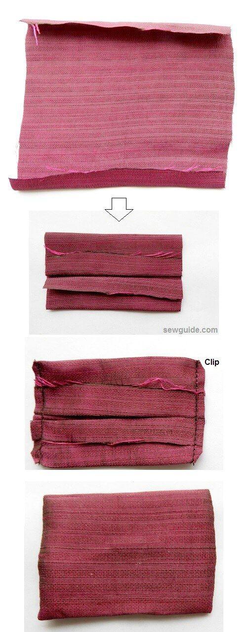 coser una diadema para el pelo - tela