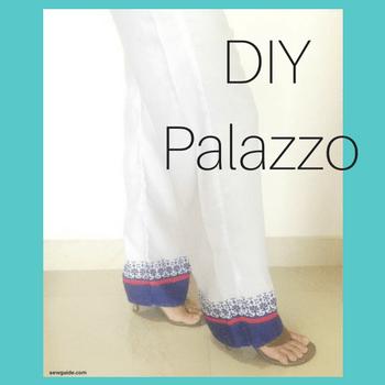 tutorial de costura de pantalones palazzo
