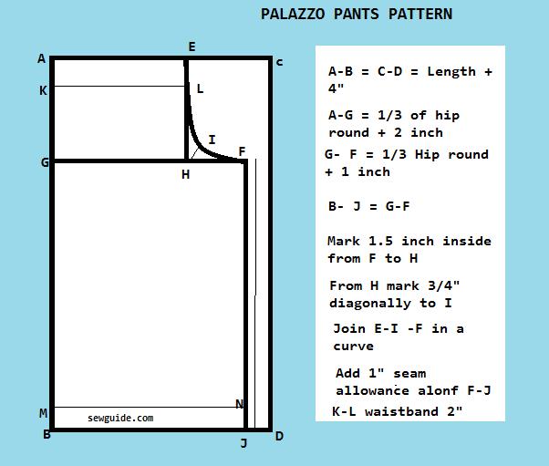 patrón de pantalones palazzo