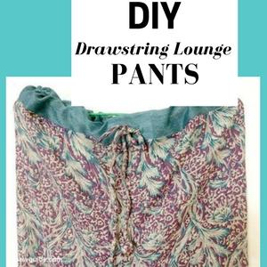 pantalones de salón con cordón