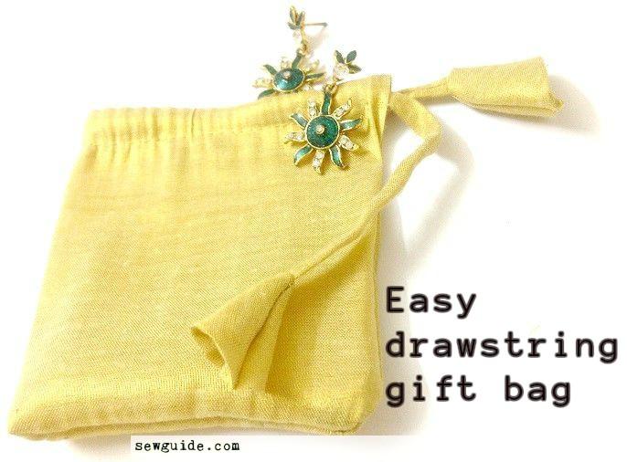 bolsa de regalo de tela diy