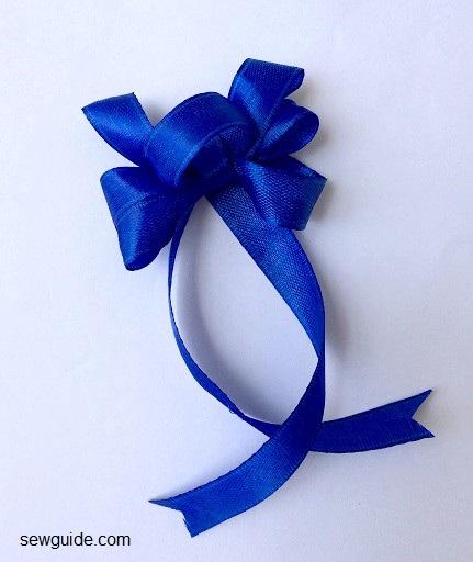 diy ribbon bow haciendo instrucciones