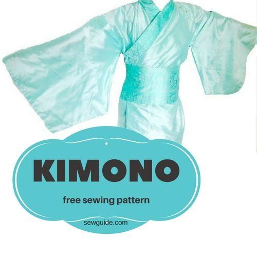 patrón de costura de kimono - bricolaje