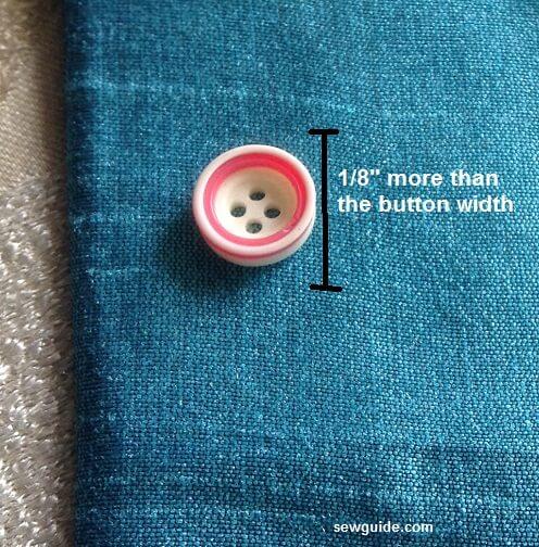 como coser a mano un buttohole
