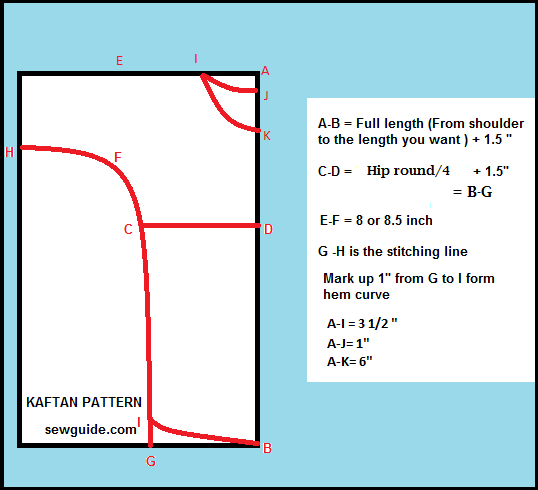 patrón de kaftan