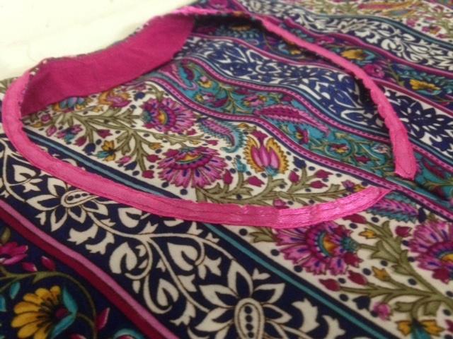como coser un kaftan