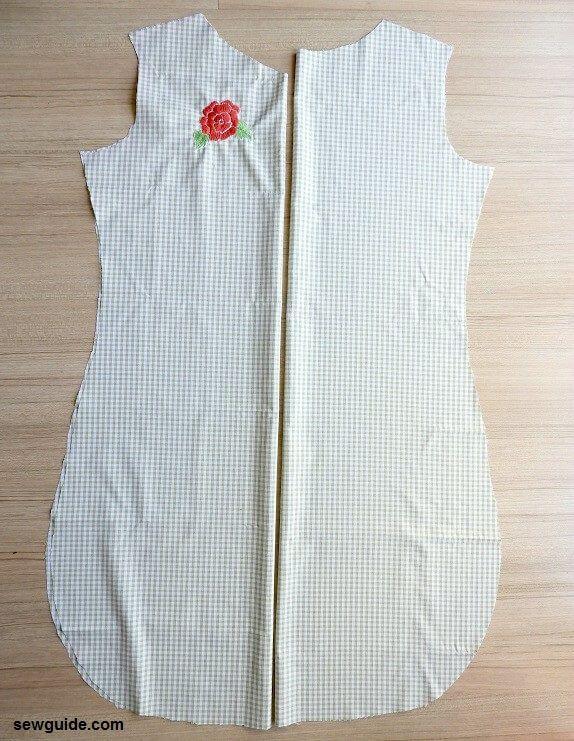 tutorial de patrón de vestido de cambio