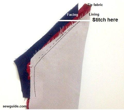 coser una corbata