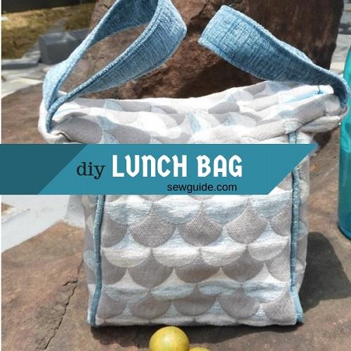 bolsa de almuerzo de tela diy