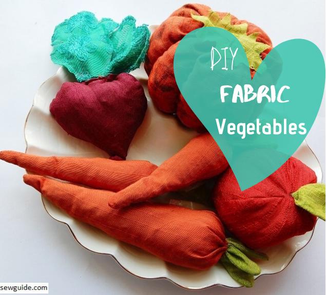 hacer vegetales de tela