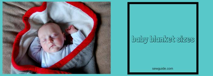 tamaño de la manta de bebé