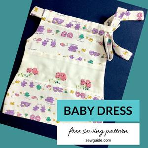 vestido de bebé patrón de bricolaje