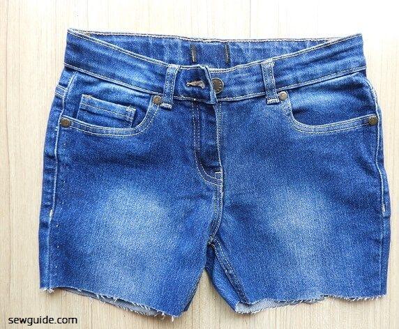 hacer pantalones cortos de jean