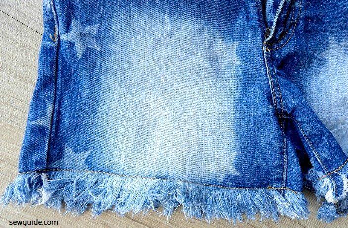 coser jeans cortados