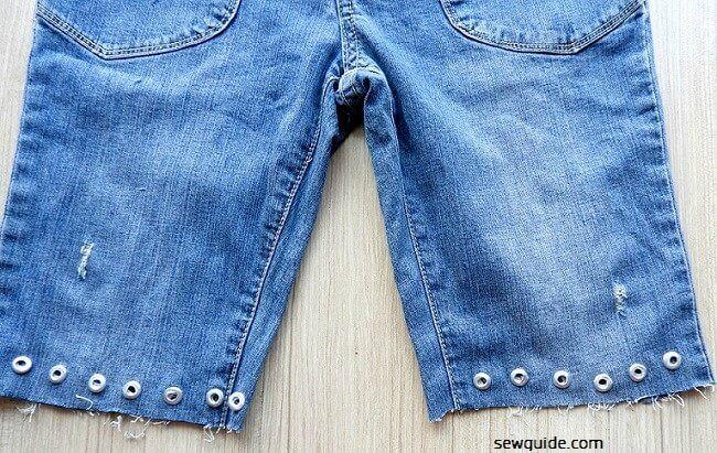 cortar pantalones cortos instrucciones de bricolaje