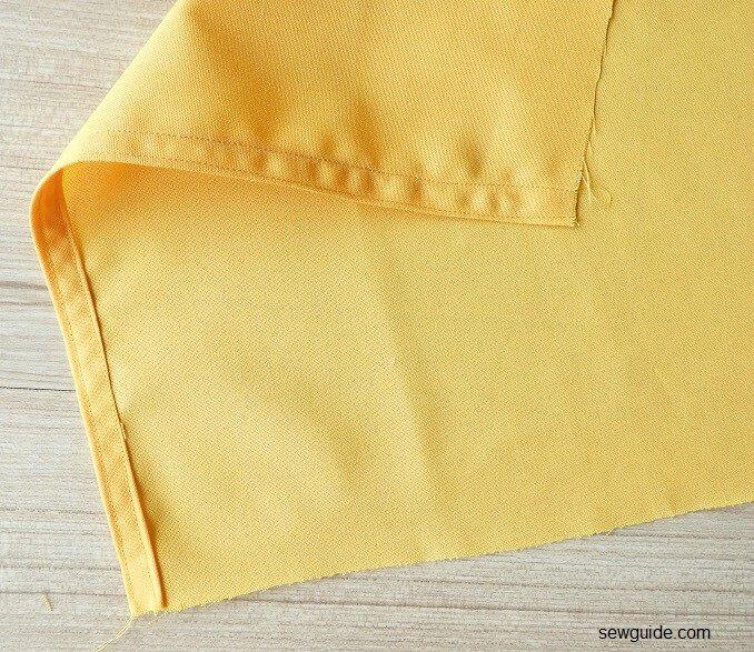 como coser un top envuelto