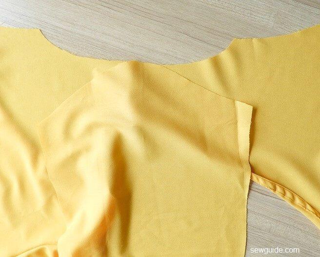 patrón de costura para envoltura superior