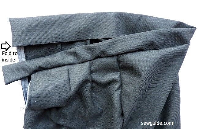 como coser una falda de oencil