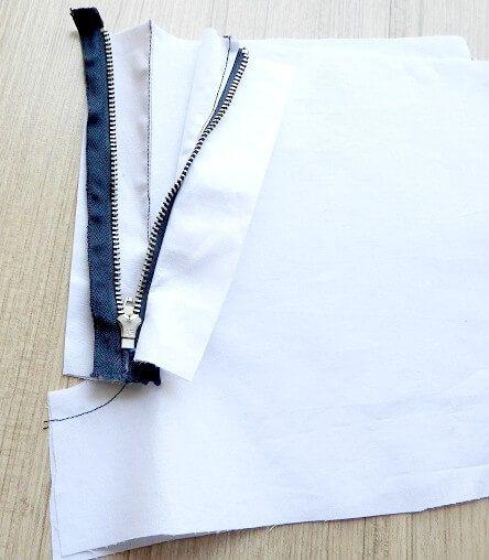 tutorial de costura de cremallera de pantalón