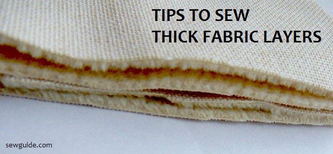 Coser capas gruesas de tela