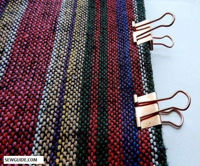 tutorial de costura de capas de tela gruesa