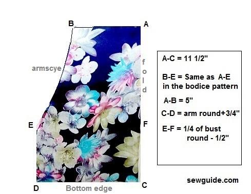 ropa de dormir conjunto patrón de mangas