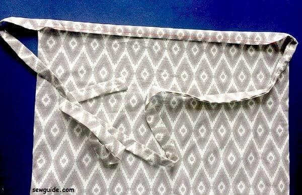 patrón de costura de medio delantal