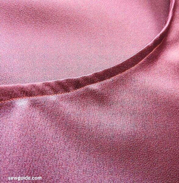 coser la parte superior con mangas con volantes