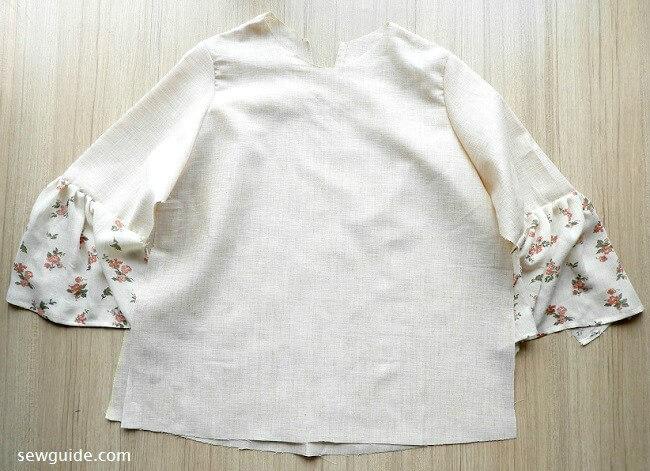 como coser un top de jeans